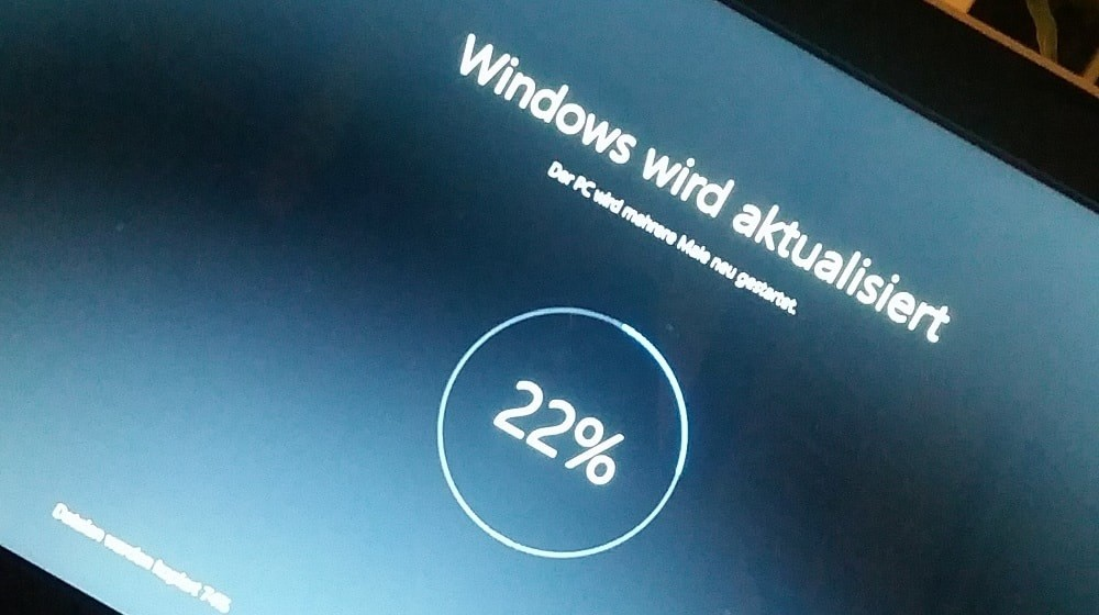 Windows 10 Update Bildschirm