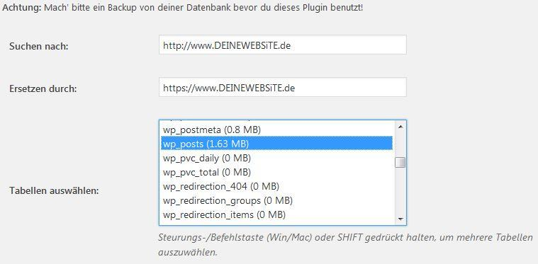 Better Search Replace Screenshot https Umstellung