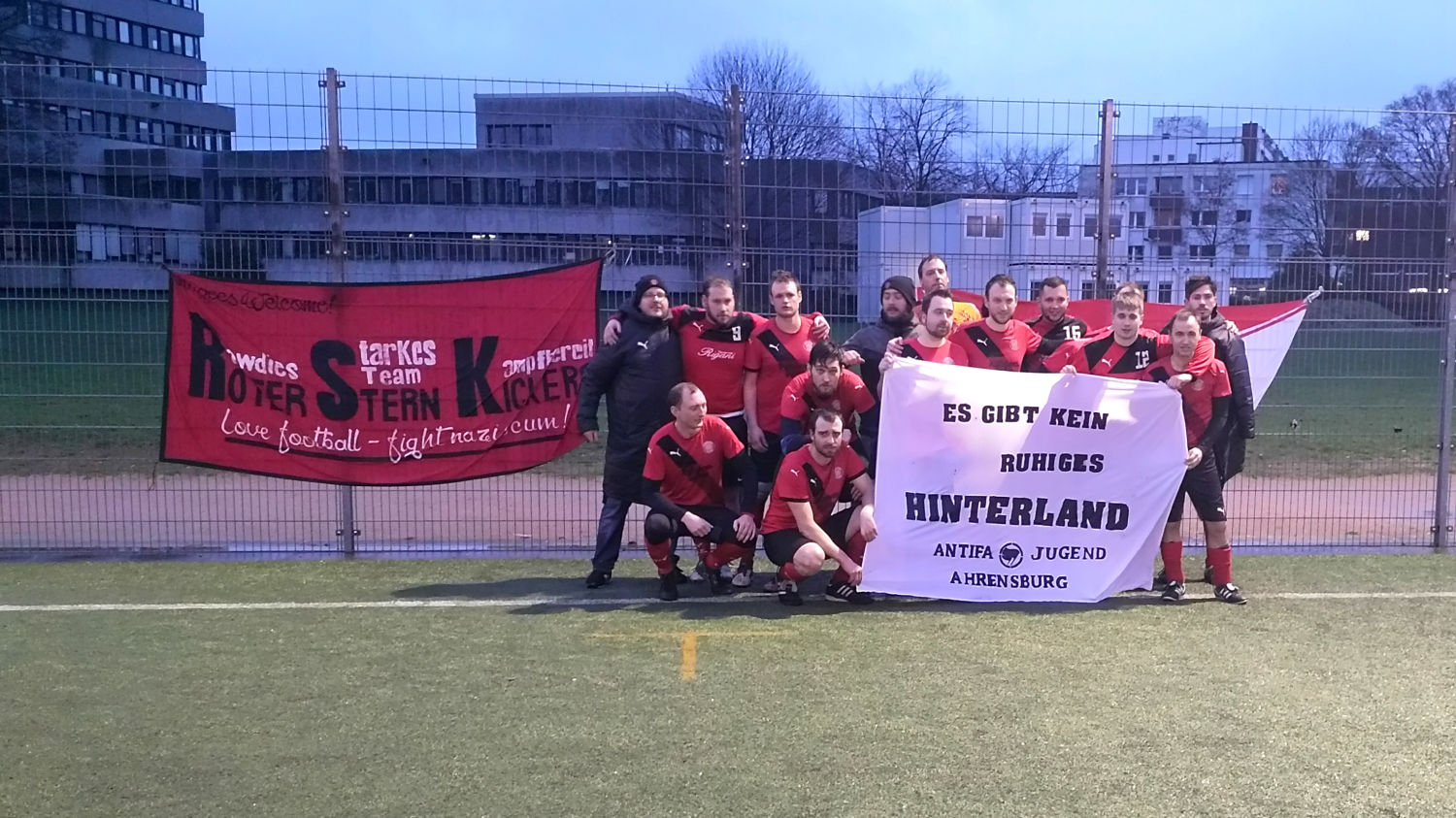 Roter Stern Kickers 05 Supports Aja Banner